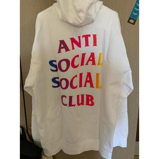 ANTI - Anti social social club 白パーカー L assc