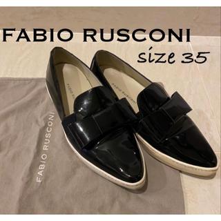 FABIO RUSCONI - ファビオルスコーニ FABIO RUSCONI スリッポン 35 エナメル 黒