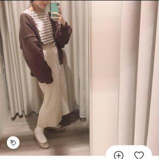 カスタネ(Kastane)のkastane ニットスカート(ひざ丈スカート)