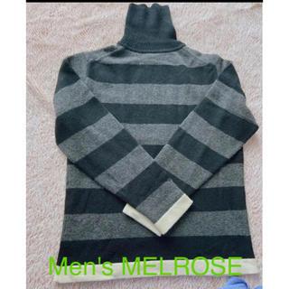 メンズメルローズ(MEN'S MELROSE)の【Men's MELROSE】ボーダーニット(ニット/セーター)