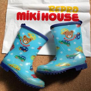 ミキハウス(mikihouse)のミキハウス   プッチーくん 車柄 長靴 17cm(長靴/レインシューズ)