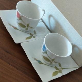 コウランシャ(香蘭社)の香蘭社ノーブルローズ ペア碗皿(食器)