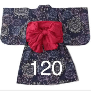 petit main - プティマイン ナルミヤ 花火柄浴衣 120