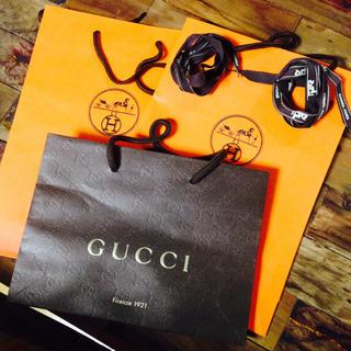グッチ(Gucci)のGUCCI,HERMESショップバック(セット/コーデ)