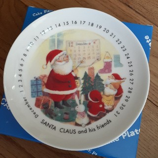 ケーキプレート サンタクロース 皿(食器)