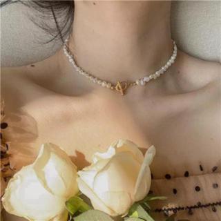 スナイデル(snidel)の新品 淡水パール シンプル チョーカー ネックレス(ネックレス)