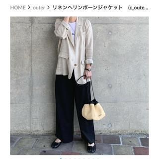 アクネ(ACNE)のok.soon♡リネンヘリンボーンジャケット(テーラードジャケット)