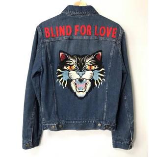 グッチ(Gucci)の【H】BLIND FOR LOVE グッチ アングリーキャット Gジャン 44(Gジャン/デニムジャケット)