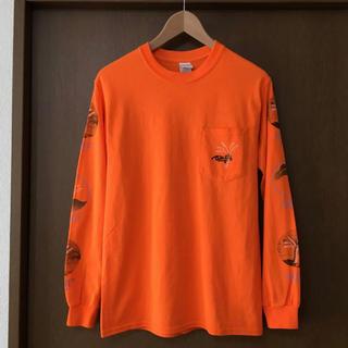 ビームス(BEAMS)のTENUSIS テヌシス ロンT 長袖 カットソー オレンジ シルクスクリーン(Tシャツ(長袖/七分))