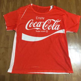 コカコーラ(コカ・コーラ)のTシャツ コカコーラ オレンジ カットソー トップス(Tシャツ/カットソー(半袖/袖なし))