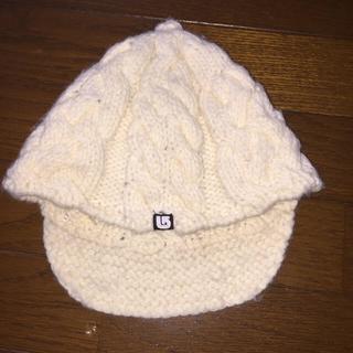 バートン(BURTON)のバートンキッズ ニット帽 ニットキャップ ビーニー アイボリー(帽子)