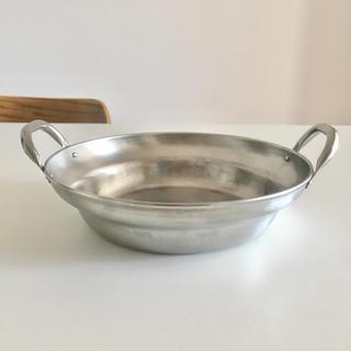 ムジルシリョウヒン(MUJI (無印良品))の無印 IH対応 ステンレス卓上鍋 約内径24×高さ6cm 未使用(鍋/フライパン)