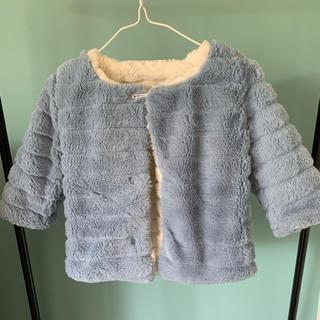 ザラキッズ(ZARA KIDS)のファー コート  80 韓国 子供服 プティマイン ZARA GAP(ジャケット/コート)