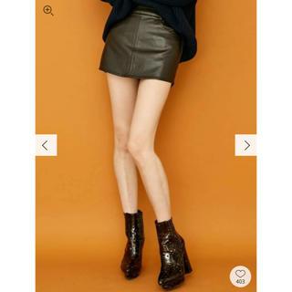 ジェイダ(GYDA)のGYDA フェイクレザースカートライクショーパン(ミニスカート)