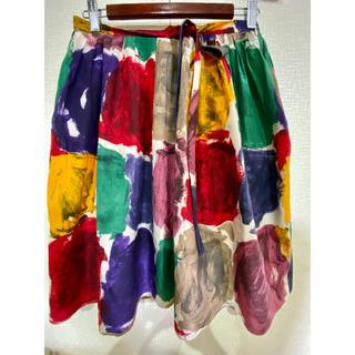 モスキーノ(MOSCHINO)のモスキーノ 可愛いスカート 40サイズ  イタリア製 マルチカラー(ひざ丈スカート)