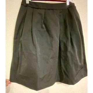 ジェイプレスレディス(J.PRESS LADIES)のJ.PRESS スカート 黒 LLサイズ 美品(ひざ丈スカート)