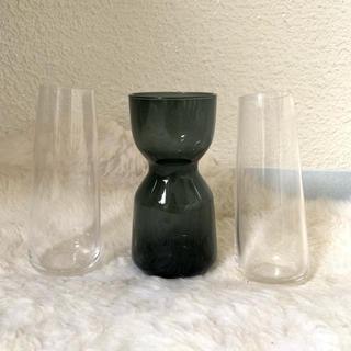 イケア(IKEA)のイケア フラワーベース 人気のグレー3個セット♪(花瓶)