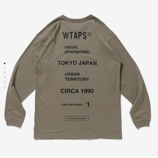 ダブルタップス(W)taps)の新品 20ss WTAPS CIRCA L/S L BEIGE (Tシャツ/カットソー(七分/長袖))