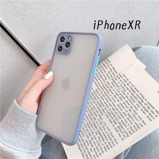 大人気!iPhoneXR シンプル カバー ケース グレー(iPhoneケース)
