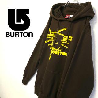 バートン(BURTON)の美品 BURTON スウェットパーカー ブラウン メンズ大きいサイズ(パーカー)
