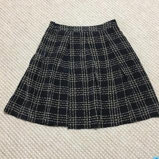 マークバイマークジェイコブス(MARC BY MARC JACOBS)のマークバイ シルク フレアスカート プリーツスカート チェックスカート(ひざ丈スカート)