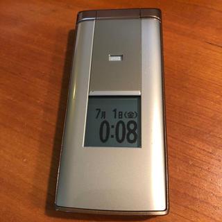 エーユー(au)のau かんたんケータイ KYF32 ゴールド(携帯電話本体)