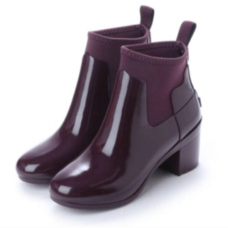 ハンター(HUNTER)のハンター リファインド ミッドヒール グロス レインブーツ ショートブーツ(レインブーツ/長靴)