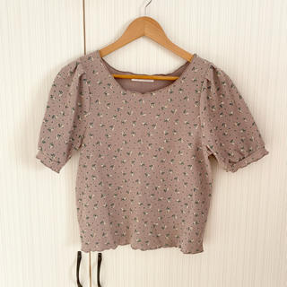 レトロガール(RETRO GIRL)のRETRO GIRL  ワッフルTシャツ 花柄(Tシャツ(半袖/袖なし))