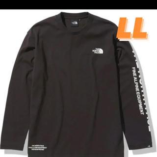 サカイ(sacai)のノースフェイス ロングスリーブ テステッド プルーブン Tシャツ 黒 LLサイズ(Tシャツ/カットソー(半袖/袖なし))