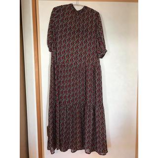 ハコ(haco!)のパッと着るだけで映える柄が可愛い ティアード ワンピース(ロングワンピース/マキシワンピース)