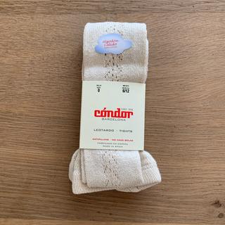 Caramel baby&child  - condor コンドル リネン オープンワーク サイド レース タイツ 新品