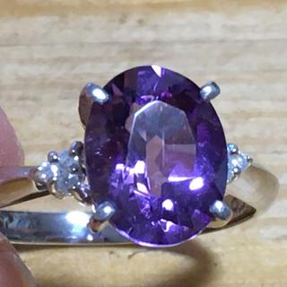 アメジスト プラチナリング ダイヤ 20号(リング(指輪))