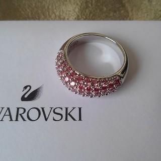 スワロフスキー(SWAROVSKI)のリングサイズ55◇SWAROVSKIスワロフスキー◇クリア×ピンク(リング(指輪))