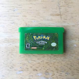 ゲームボーイアドバンス(ゲームボーイアドバンス)の北米版 未使用オーロラチケットあり リーフグリーン  ポケモン(携帯用ゲームソフト)