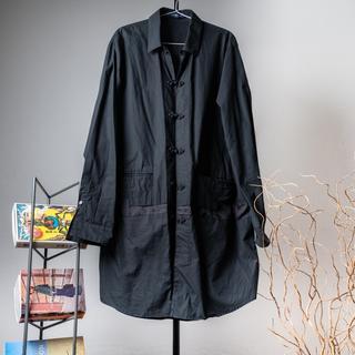 アンダーカバー(UNDERCOVER)のJohnUNDERCOVER18AW チャイナボタン 切替シャツJKT ブラック(シャツ)