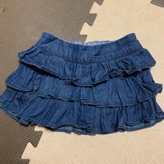 ベビーギャップ(babyGAP)のbaby GAPデニムフリルスカート90(スカート)