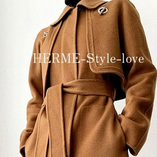 Hermes -  コート ロングコート ウール ロング ジレ ベスト hls2