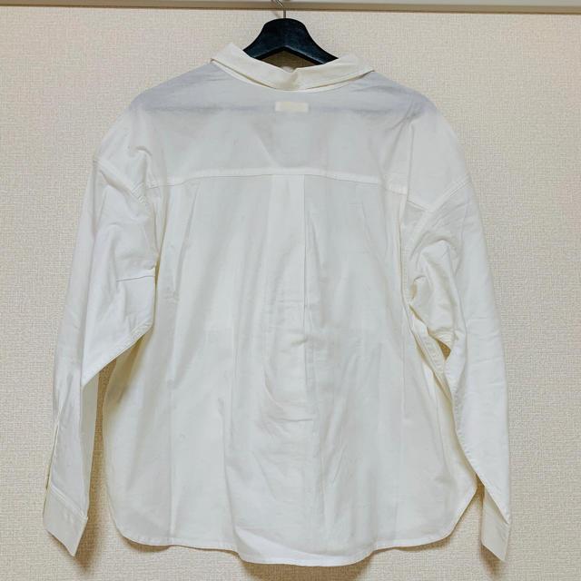 earth music & ecology(アースミュージックアンドエコロジー)の値下げ中*新品タグ付き* 白シャツ ブラウス ワイシャツ レディースのトップス(シャツ/ブラウス(長袖/七分))の商品写真