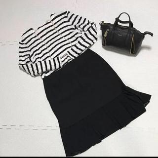 アドーア(ADORE)のAdore❤︎黒❤︎プリーツ❤︎スカート(ひざ丈スカート)