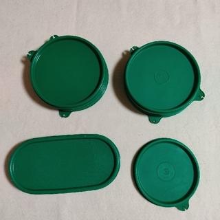benz70様専用ページ・タッパーウェア、シール、緑だらけ。3枚で300円(容器)