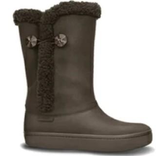 クロックス(crocs)のクロックス モデッサ シンセティック スエード ボタン ブーツ 21cm(ブーツ)