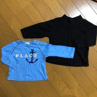 フタフタ(futafuta)の男の子ロンT2枚70,80セット(Tシャツ)