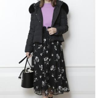 マイストラーダ(Mystrada)のマイストラーダ  フラワー刺繍チュールスカート ブラック 34(ロングスカート)