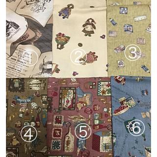 カットクロス  カントリー調  6点(生地/糸)