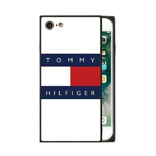 トミーヒルフィガー(TOMMY HILFIGER)のトミーヒルフィガー ガラスケース iPhoneケース l6l3k(iPhoneケース)