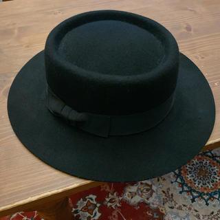 マウジー(moussy)のマウジー ハット 帽子 ブラック(ハット)