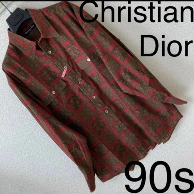 Christian Dior(クリスチャンディオール)の90s◆Dior クリスチャン ディオール◆ペイズリー 花柄 レトロ柄 シャツ メンズのトップス(シャツ)の商品写真