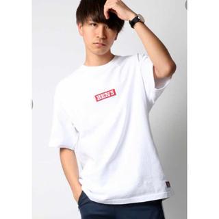 ベンデイビス(BEN DAVIS)のBEN DAVIS ベンデイビス ボックスロゴTシャツ ホワイト M(Tシャツ/カットソー(半袖/袖なし))