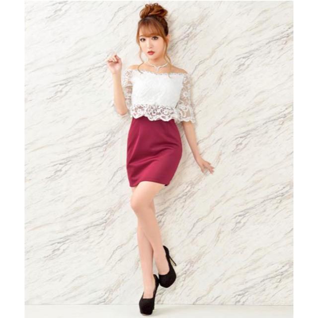 dazzy store(デイジーストア)のボールドflower刺繍オフショルタイトミニドレス[XXL] レディースのフォーマル/ドレス(ミニドレス)の商品写真