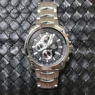 カシオ(CASIO)の【美品】CASIO EDIFICE クロノグラフモデル 余りコマ付属 稼働中(腕時計(アナログ))